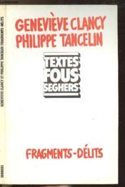 Fragments-Delits - Couverture - Format classique