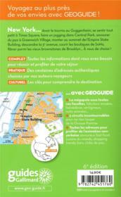 GEOGUIDE ; New York ; Manhattan, Brooklyn (édition 2018) - 4ème de couverture - Format classique