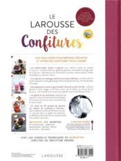 Le Larousse des confitures ; la saveur incomparable des confitures, gelées et compotes maison - 4ème de couverture - Format classique
