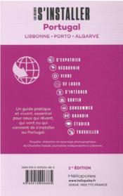 LES GUIDES S'INSTALLER A ; Portugal : Lisbonne, Porto, Algarve - 4ème de couverture - Format classique