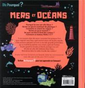 Mers et océans - 4ème de couverture - Format classique