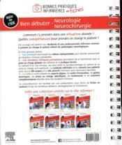 Bien débuter ; neurologie-neurochirurgie - 4ème de couverture - Format classique