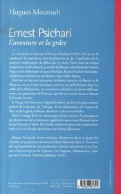 L'aventure et la grâce ; ernest psichari,1883- 1941 - 4ème de couverture - Format classique
