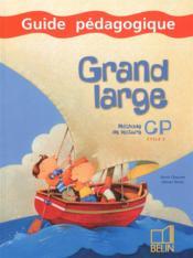 Grand large ; CP ; guide pédagogique - Couverture - Format classique