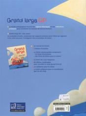 Grand large ; CP ; guide pédagogique - 4ème de couverture - Format classique