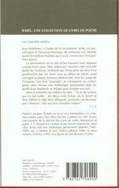Un Cimetiere Indien Babel 204 - 4ème de couverture - Format classique