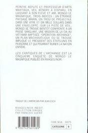 Les Cantiques De L'Archange - 4ème de couverture - Format classique