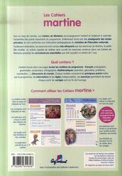 Les cahiers de Martine ; CE1 - 4ème de couverture - Format classique