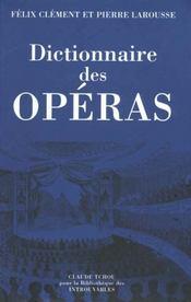 Dictionnaire des operas - Intérieur - Format classique