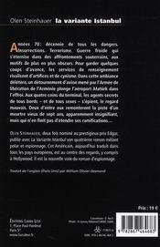La variante Istanbul - 4ème de couverture - Format classique