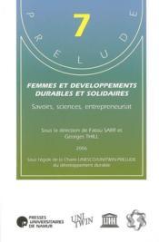 Femmes et développements durables et solidaires - Couverture - Format classique