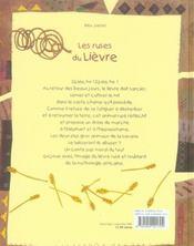 Les ruses du lièvre - 4ème de couverture - Format classique
