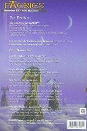 Faeries 23 ; spécial anne mccaffrey - 4ème de couverture - Format classique