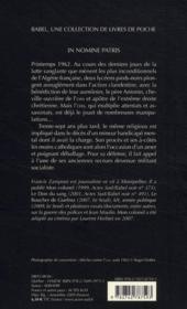 In nomine patris - 4ème de couverture - Format classique