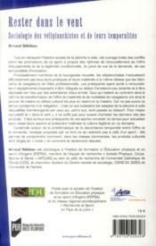 Rester dans le vent ; sociologie des véliplanchistes et de leurs temporalités - 4ème de couverture - Format classique