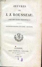 Oeuvres De J.J. Rousseau - Tome Xvi / Declaration Relative A M. Vernes - Dialogues (Avec Des Notes Historiques). - Couverture - Format classique