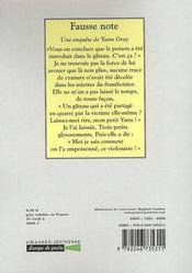 Fausse note - 4ème de couverture - Format classique