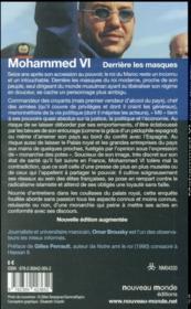 Mohammed VI derrière ses masques - 4ème de couverture - Format classique