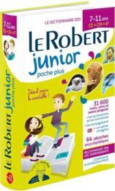 Le dictionnaire Robert junior poche plus ; 7/11 ans ; CE, CM, 6e (édition 2019) - Couverture - Format classique