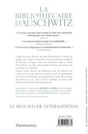 La bibliothécaire d'Auschwitz - 4ème de couverture - Format classique