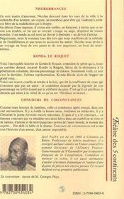 Negrerrances ; Konda Le Roquet ; Concours De Circonstances - 4ème de couverture - Format classique