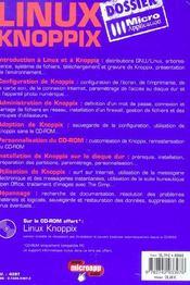 Dossier linux knoppix - 4ème de couverture - Format classique