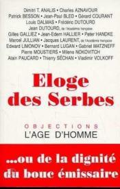 Eloge Des Serbes - Couverture - Format classique