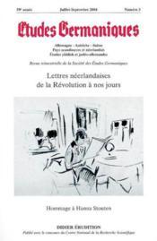 Revue Etudes Germaniques N.235 - Couverture - Format classique