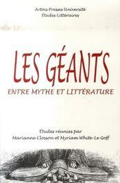 Les géants ; entre mythe et littérature - Intérieur - Format classique