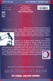 Jouer les didascalies theatre contemporain espagnol et francais - 4ème de couverture - Format classique