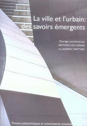 La ville et l'urbain : des savoirs emergents ? - Intérieur - Format classique