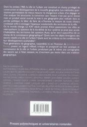 La ville et l'urbain : des savoirs emergents ? - 4ème de couverture - Format classique