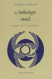 Anthologie rundi - Couverture - Format classique