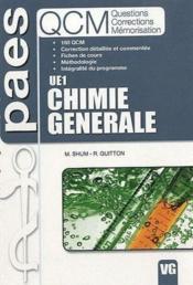 UE1 chimie générale - Couverture - Format classique
