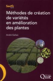 Méthodes de création de variétés en amélioration des plantes - Couverture - Format classique