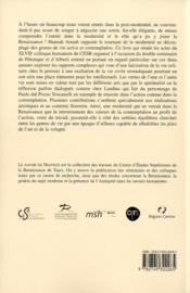Vie solitaire, vie civile ; l'humanisme de Pétrarque à Alberti - 4ème de couverture - Format classique