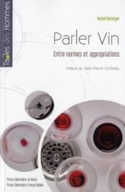 Parler vin - Couverture - Format classique
