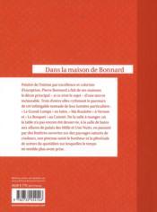 Dans la maison de Bonnard - 4ème de couverture - Format classique