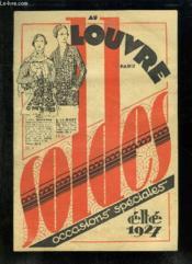 Catalogue Au Louvre Paris Occasions Speciales Ete 1927. - Couverture - Format classique