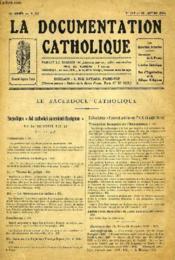 LA DOCUMENTATION CATHOLIQUE, 18e ANNEE, T. 35, N° 779, 18 JAN. 1936 - Couverture - Format classique