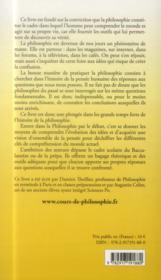 Un chemin de liberté ; la philosophie, de l'Antiquité à nos jours - 4ème de couverture - Format classique