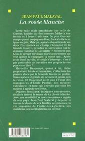 La Rosee Blanche - 4ème de couverture - Format classique