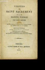 Visites Au Saint Sacrement Et A La Sainte Vierge - Couverture - Format classique
