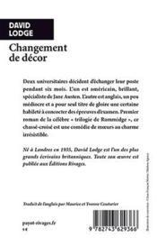 Changement de décor - 4ème de couverture - Format classique