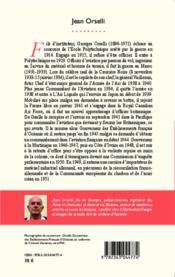Georges Orselli ; officier, gouverneur des colonies et industriel : un patriote critique - 4ème de couverture - Format classique