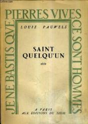 Saint Quelqu'Un. - Couverture - Format classique