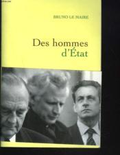 Des hommes d'Etat - Couverture - Format classique