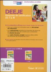 DEEJE ; épreuves de certification DC 1 a 4 ; annales corrigées (7e édition) - 4ème de couverture - Format classique