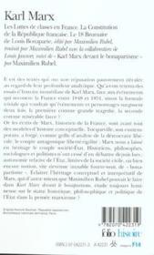 Les luttes de classes en France ; la constitution de la république française ; le 18 brumaire - Couverture - Format classique