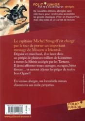 Michel Strogoff - 4ème de couverture - Format classique